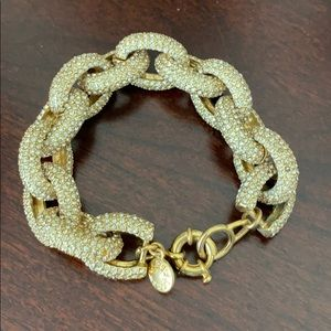J. Crew Pave Gold Links Bracelet